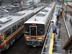 2009年3月/撮影場所:本竜野駅跨線橋より・本竜野7時23分発姫路行