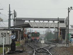 2009年3月/撮影場所:本竜野駅姫路寄り、中村第三踏切より・本竜野16時4分着