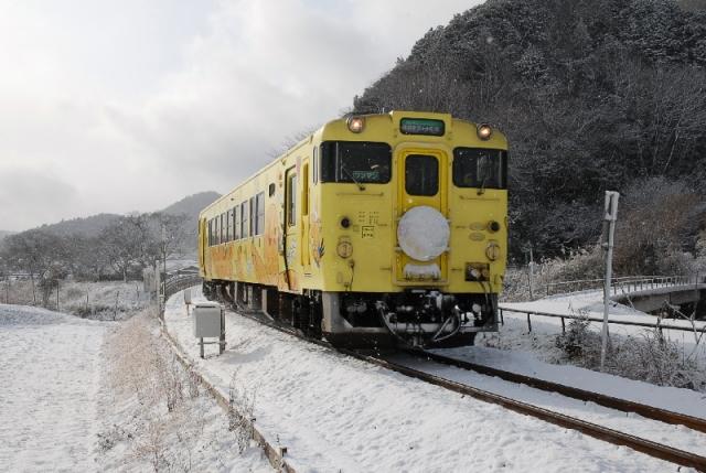 2010年2月/雪の中のはばタン号