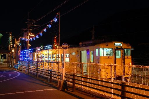 2010年12月/はばタン号とクリスマス・イルミネーション